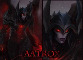 Aatrox Leauge of Legends by LeeKent
