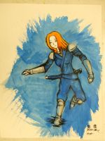 Coulumbine Ink-Wash with Color by Aneirin-Aryon