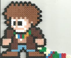 Doctor Who 4 Tom Baker by Ravenfox-Beadsprites