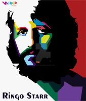 Ringo Starr in WPAP by BayuAndykha