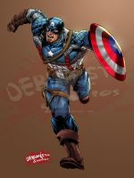 Captain America_Colored fan art by debuhista