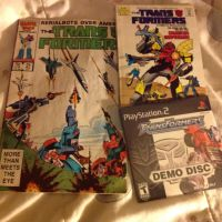 Transformers comics and demo Ps2 game. by Cuttheshadowdemon