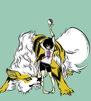 a girl and her arcanine by tickoo