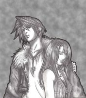 Squall and Rinoa by MadeInHeavenFF15