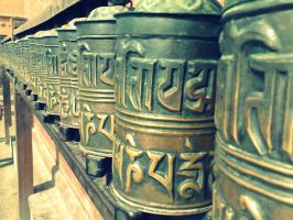 Prayer wheel by Pramin