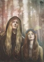 Rhaegar Targaryen and Lyanna Stark by lillak-illustration