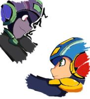 Dark megaman vs Megaman_Color by blkhorst