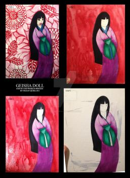 Giesha Doll Painting by trossidevil