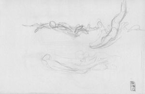 Sketch-a-day 01-07-13: Swimming by ThroughMyThoughts