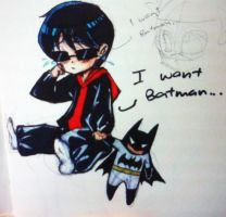 Little Dick wants Batman by holmeskudo