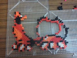 Beginning of a charizard by BaconTree92
