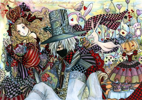 Alice - Kakashi in Wonderland by Hellobaby