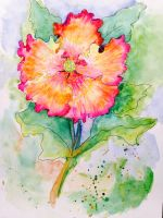 Hibiscus Watercolor by Ghastlytastic