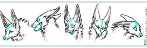 Grypwolf Faces by CanisAlbus