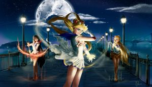 Moon Warriors (Sailor Moon) by Pillara