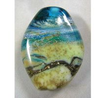 Big Waves Lampwork Focal by eerok1955