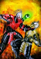 Sektor vs Cyrax by Blackknight1987