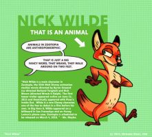 Nick Wilde from Zootopia by nicholasritzic