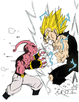 Vegeta vs Kid Buu by darkhawk5