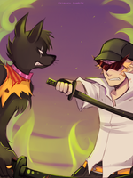 Bro VS Jack Strife by ikimaru-art
