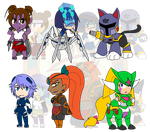 Assorted Chibis - AU Alot of Limbs by Dragon-FangX
