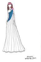 Draven Shepard's Wedding Gown by LadyIlona1984