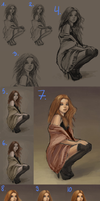 I like these eyes - step by step by revvriverse