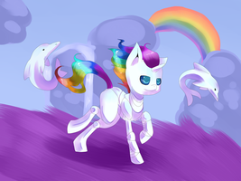 Robot Unicorn by Tomat-in-Cup