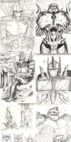 Transformers Prime sketches by ToxicNeonSpaceMonkey