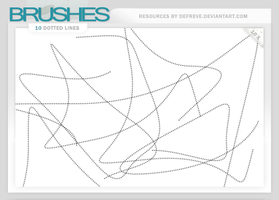 Brushes - Dotted Lines by Defreve