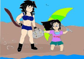 A Day at the Beach by Vegito65