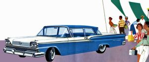 age of chrome and fins : 1959 Ford by Peterhoff3