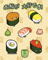 Sushi Sticker Sheet by ShoriAmeshiko