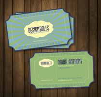 Free Retro Business Card Template by Designbolts