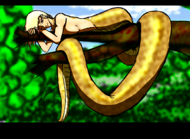 Meet the snake by Felina-Faerlaingal