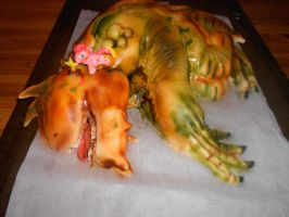 Tarrasque Birthday Cake by MomIsMean