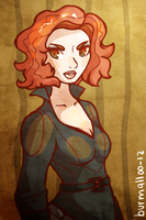 black widow by burmalloo