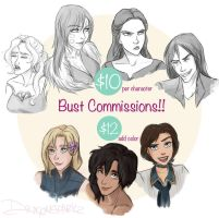 Bust Commissions!! (CLOSED) by riku-gurl