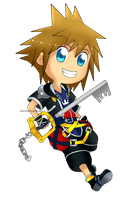 Kingdom Hearts - Sora Chibi by Kanokawa