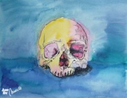 Colorful Skull 3 by Jovigirl666
