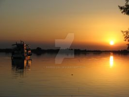 Sunset In The Danube Delta by ramses84