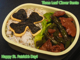 Three Leaf Clover Bento by Demi-Plum