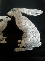 Hare pair 5 by braindeadmystuff