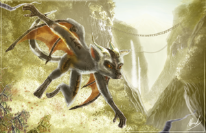 The Lemur Dragon by IceDragonhawk