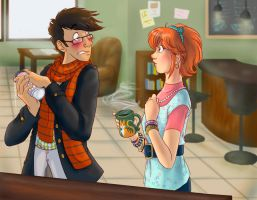 Coffee House Hipsters by Mavuriku