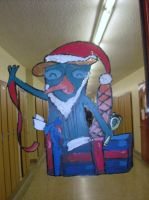 Christmas Perry Window Deccor by Knadow-the-Hechidna