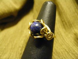 Lapis Spiral Ring by BacktoEarthCreations