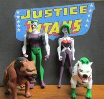 Justice Titans Arkham Inc Joker Jr and Duela Dent by monitor-earthprime