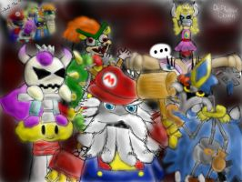 Teh Mario's Gang by DePhoenixDown
