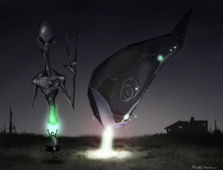 alien abduction by HaitisWorst